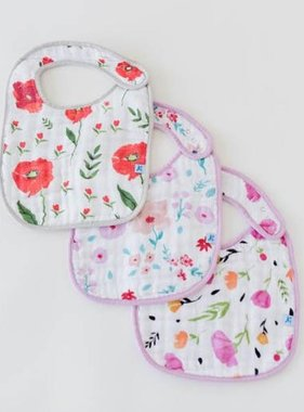Little Unicorn UF0009 Cotton Muslin Classic Bib 3pk - Floral Medley Set