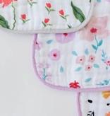 Little Unicorn UF0009 Cotton Muslin Classic Bib 3pk - Floral Medley Set