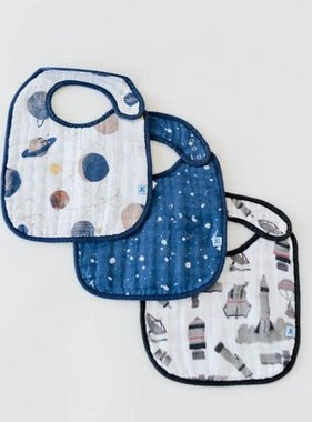 Little Unicorn UF0010 Cotton Muslin Classic Bib 3pk - Planetary Set