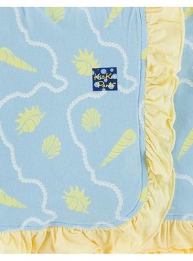 Kickee Pants Print Ruffle Stroller Blanket Pond Shells