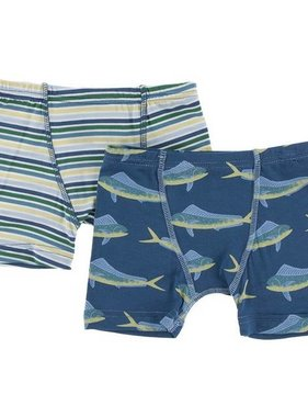 Kickee Pants Boxer Briefs Set Perth Stripe & Twilight Dolphin