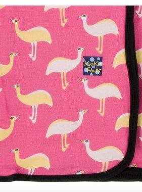 Kickee Pants Print Swaddling Blanket Flamingo Emu