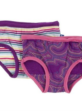 Kickee Pants Girl Underwear (Girl Perth Stripe & Starfish Kangaroo)