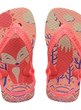 Havaianas Kids Baby Pets Fox, Silk Rose