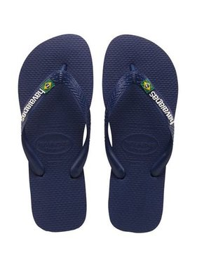 Havaianas Kids Brazil Logo Sandal Navy Blue