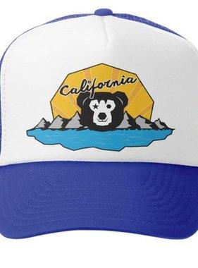 Grom Squad Cali Bear Trucker Hat Royal/White