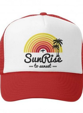 Grom Squad Sunrise to Sunset Trucker Hat Red/White