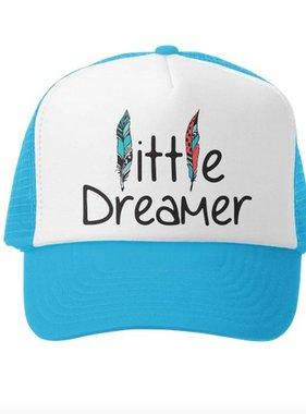 Grom Squad Little Dreamer Trucker Hat, Aqua/White