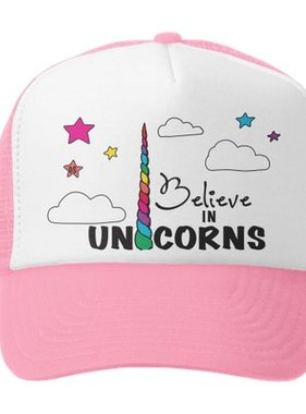 Grom Squad Believe in Unicorns Trucker Hat Pnk/Wht