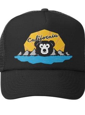 Grom Squad Trucker Hat-Cali Bear Boy Blk/Blk