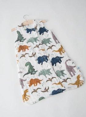 Little Unicorn Cotton Muslin Sleep Bag - Dino Friends