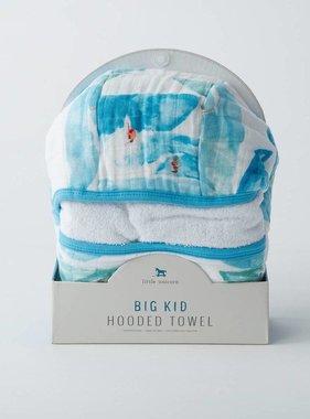 Little Unicorn Cotton Hooded Towel BIg Kid, Surf