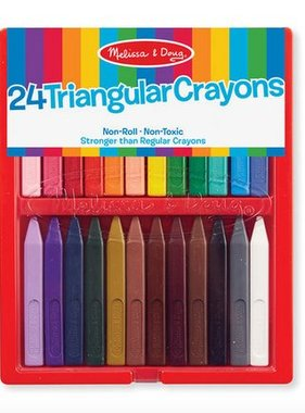 Melissa & Doug 24 Triangular Crayons 4136 YES