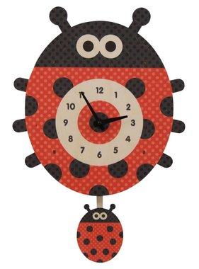 Modern Moose Ladybug Pendulum Clock