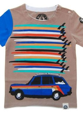 Mini Shatsu Surfboard Tower Station Wagon T Shirt