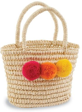Mud Pie 1562066P Pom Poms Bag