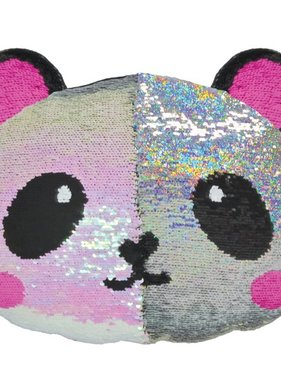 Iscream 780-882 Panda Sequin Pillow