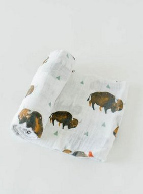 Little Unicorn UB0132 Cotton Muslin Swaddle Single - Bison