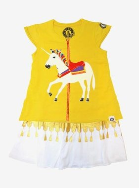 Mini Shatsu White Unicorn Carousel Dress