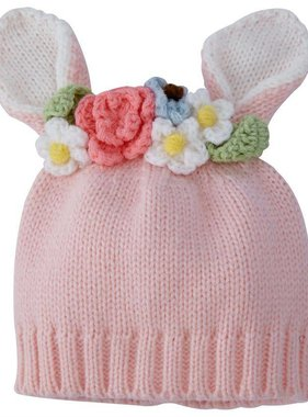 Mud Pie BUNNY FLOWER CROWN HAT