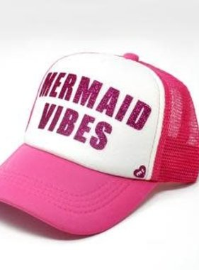 Mother Trucker Mermaid Vibes Pink/White Trucker Hat