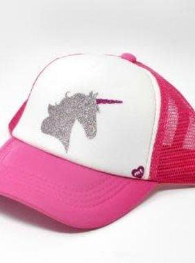 Mother Trucker Majestic Unicorn Pink/White Trucker Hat