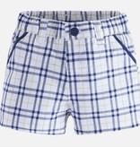 Mayoral 1216 064 Navy Checked Shorts