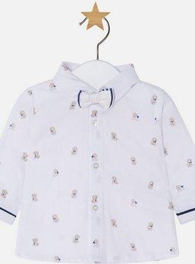 Mayoral 1112 038 L/S Shirt w Bowtie Macchiato