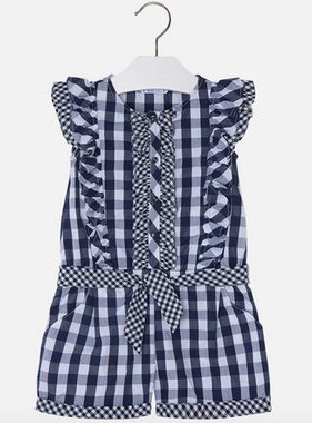 Mayoral 3800 75 Geometric Romper, Navy