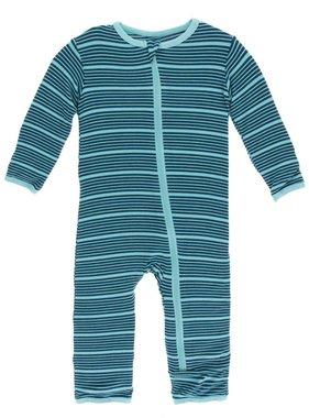 Kickee Pants Print Coverall w/ Zipper Shining Sea Stripe