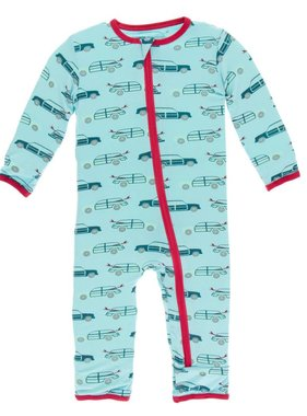 Kickee Pants Print Coverall w/ Zipper Shining Sea Woody