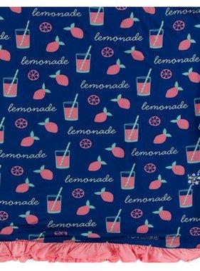 Kickee Pants Print Ruffle Toddler Blanket-Pink Lemonade