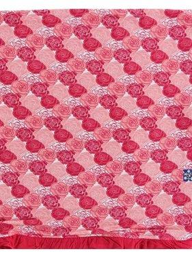 Kickee Pants Print Ruffle Toddler Blanket-Roses