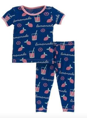 Kickee Pants Print Short Sleeve Pajama Set-Pink Lemonade