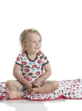 Kickee Pants Print Swaddling Blanket-Nat Sports