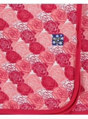 Kickee Pants Print Swaddling Blanket-Roses