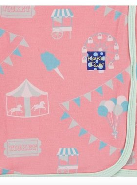 Kickee Pants Print Swaddling Blanket-Strawberry Carnival