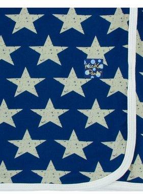 Kickee Pants Print Swaddling Blanket-Vintage Stars