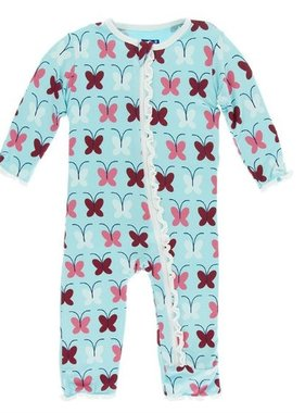 Kickee Pants Print Muffin Ruffle Coverall w/ Zipper Tallulah's Butterfly