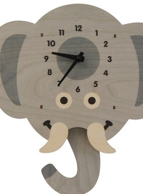 Modern Moose Elephant Head Pendulum Clock