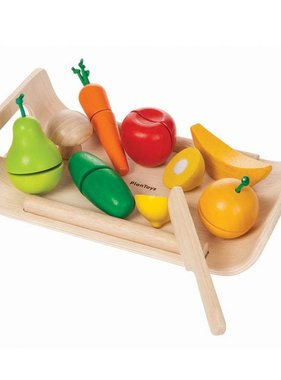 Plan Toys 3416 Assorted Fruits & Vegetable