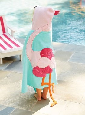 Mud Pie FLAMINGO HOODED TOWEL 2132019