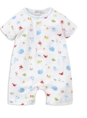 Kissy Kissy K400 Ocean Print Short Playsuit Blue