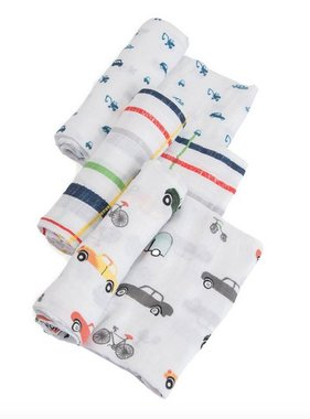 Little Unicorn UB0005 Swaddle 3 Pack-Traffic Jam