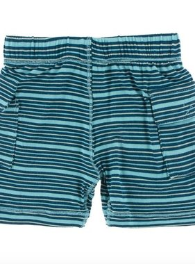 Kickee Pants Print Cargo Short Shining Sea Stripe