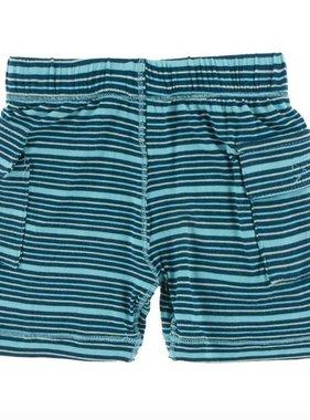 Kickee Pants Print Cargo Short Shining Sea Stripe