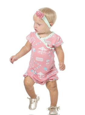 Kickee Pants Print Ruffle Romper Strawberry Carnival