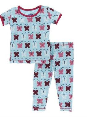 Kickee Pants Print SS PJ Set Tallulahs Butterfly
