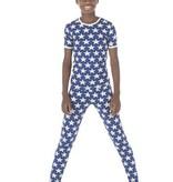 Kickee Pants Print SS PJ Set Vintage Stars