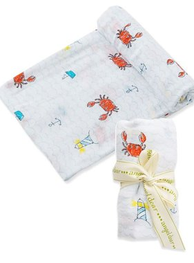 Angel Dear 157S7CR Crabby Bamboo Swaddle Blanket
